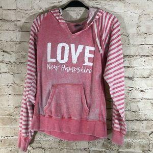 Women's MV Sport sweatshirt pink hoodie size large